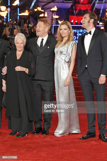 Dame Judi Dench Sir Kenneth Branagh Michelle Pfeiffer and Tom Bateman attend the World Premiere of 'Murder On The Orient Express' at The Royal Albert...