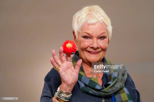 Dame Judi Dench stars in the Red Nose Day 2021, Funny is Power campaign film, What is it to be Human? on October 16,2020 in London,England. Red Nose...