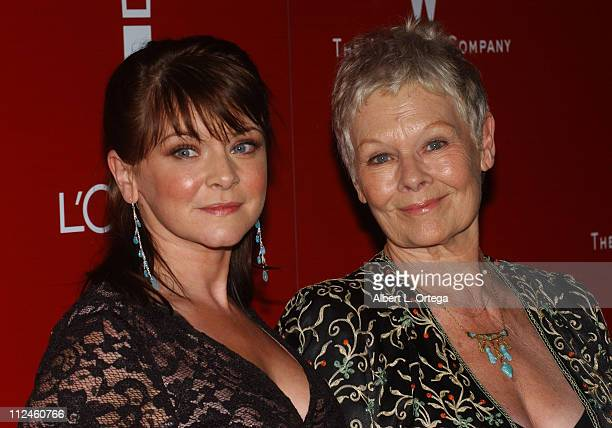 Dame Judi Dench with daughter during 2006 Weinstein Company PreOscar Party Arrivals at Pacific Design Center in West Hollywood California United...