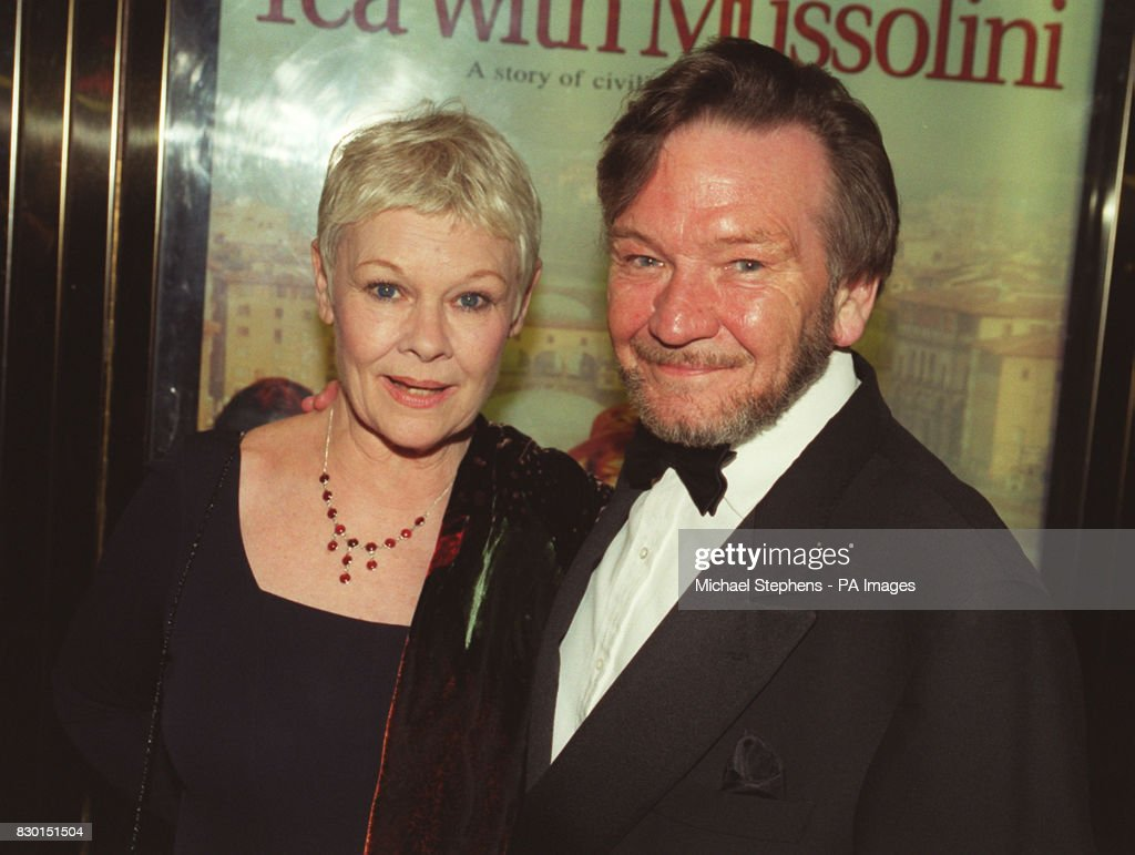 Dame Judi Dench with her husband ...