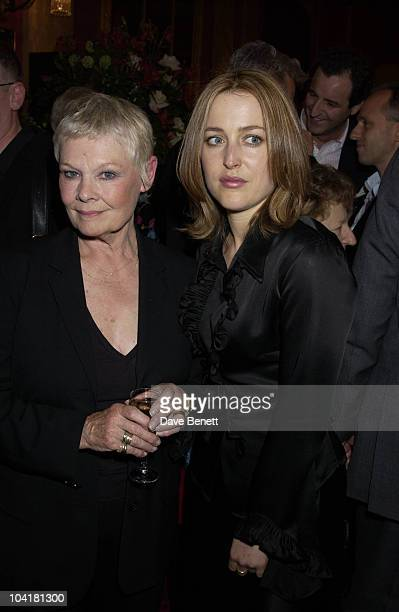 Dame Judy Dench And Gillian Anderson An Enchanted Evening Gala Concert To Help Celebrate The 20th Anniversary Of The Neurofibromatosis Association...