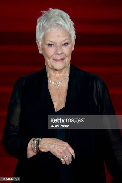 Dame Judy Dench attends the 'Murder On The Orient Express' World Premiere held at Royal Albert Hall on November 2 2017 in London England