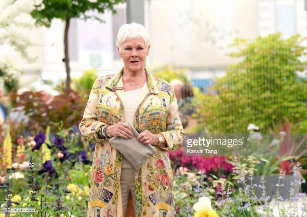 Dame Judy Dench attends the RHS Chelsea Flower Show 2019 press day at Chelsea Flower Show on May 20 2019 in London England