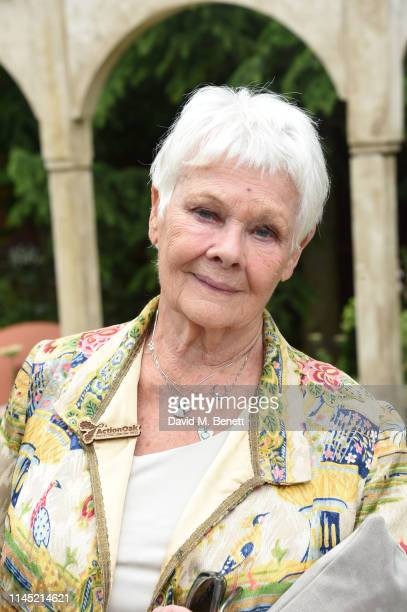 Dame Judy Dench attends the RHS Chelsea Flower Show 2019 press day on May 20 2019 in London England
