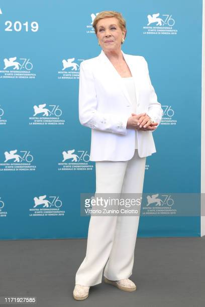 Dame Julie Andrews attends the Golden Lion for Lifetime Achievement photocall during the 76th Venice Film Festival on September 03 2019 in Venice...