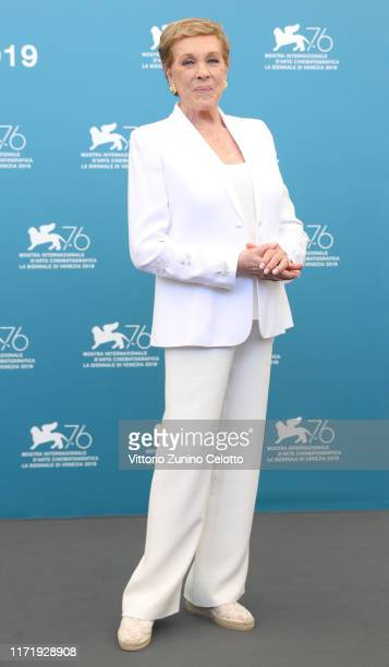 Dame Julie Andrews attends the Golden Lion for Lifetime Achievement photocall during the 76th Venice Film Festival on September 03, 2019 in Venice,...