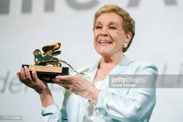 Dame Julie Andrews is awarded the Golden Lion for Lifetime Achievement during the 76th Venice Film Festival at Sala Grande on September 02 2019 in...