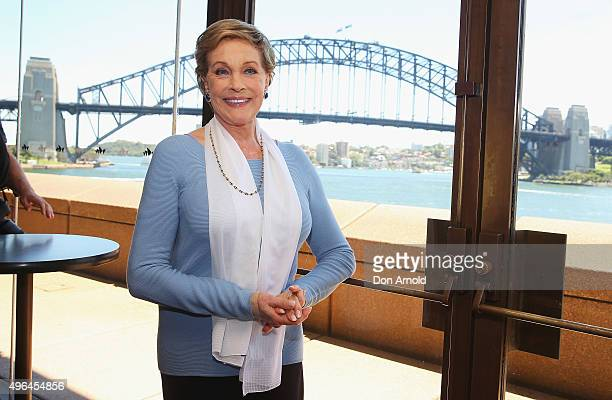 Dame Julie Andrews poses during a mdeia call for the Australian production of My Fair Lady at Sydney Opera House on November 10, 2015 in Sydney,...