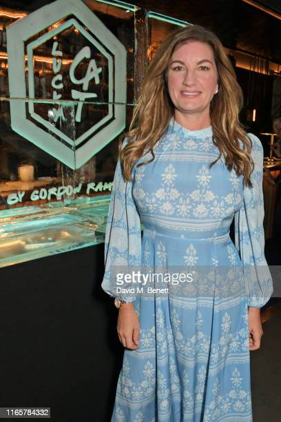 Dame Karren Brady attends the official launch party for Lucky Cat by Gordon Ramsay in Grosvenor Square, Mayfair on September 2, 2019 in London,...