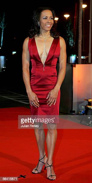 Dame Kelly Holmes arrives at the BBC Sports Personality of the Year Awards on December 11 2005 at the BBC Television Centre in London England