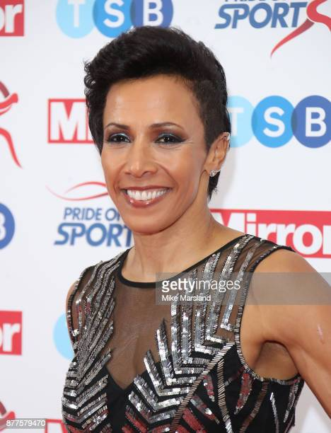 Dame Kelly Holmes attend the Pride of Sport awards at Grosvenor House on November 22 2017 in London England