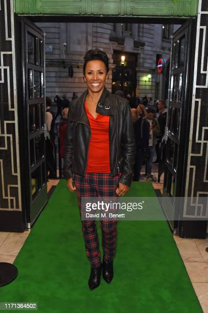 """Dame Kelly Holmes attends as hit musical """"Wicked"""" celebrates 13 years at London's Apollo Victoria Theatre on September 26, 2019 in London, England."""