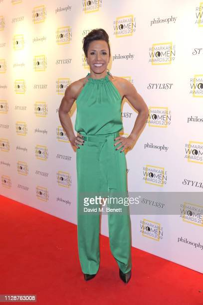 Dame Kelly Holmes attends Stylist's inaugural Remarkable Women Awards in partnership with philosophy at Rosewood London on March 5, 2019 in London,...
