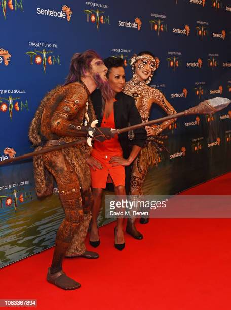 """Dame Kelly Holmes attends the Cirque du Soleil Premiere Of """"TOTEM"""" at Royal Albert Hall on January 16, 2019 in London, England."""