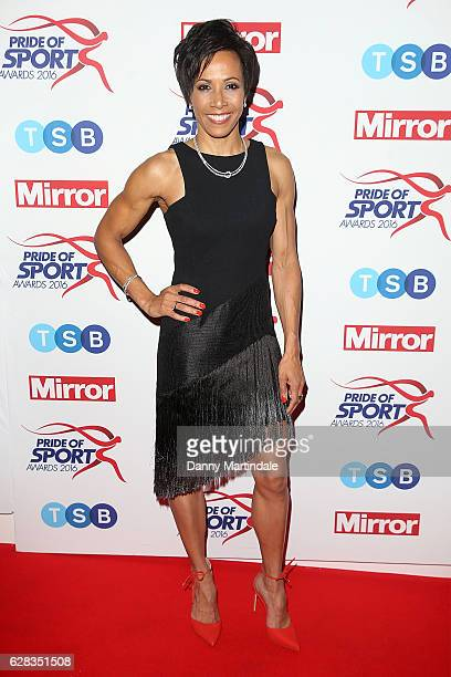 Dame Kelly Holmes attends the Daily Mirror's Pride of Sport awards at The Grosvenor House Hotel on December 7, 2016 in London, England.
