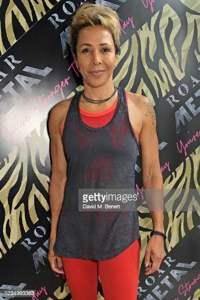 Dame Kelly Holmes attends the launch of the ROAR Metal gym launch in Kensington on September 1, 2021 in London, England.