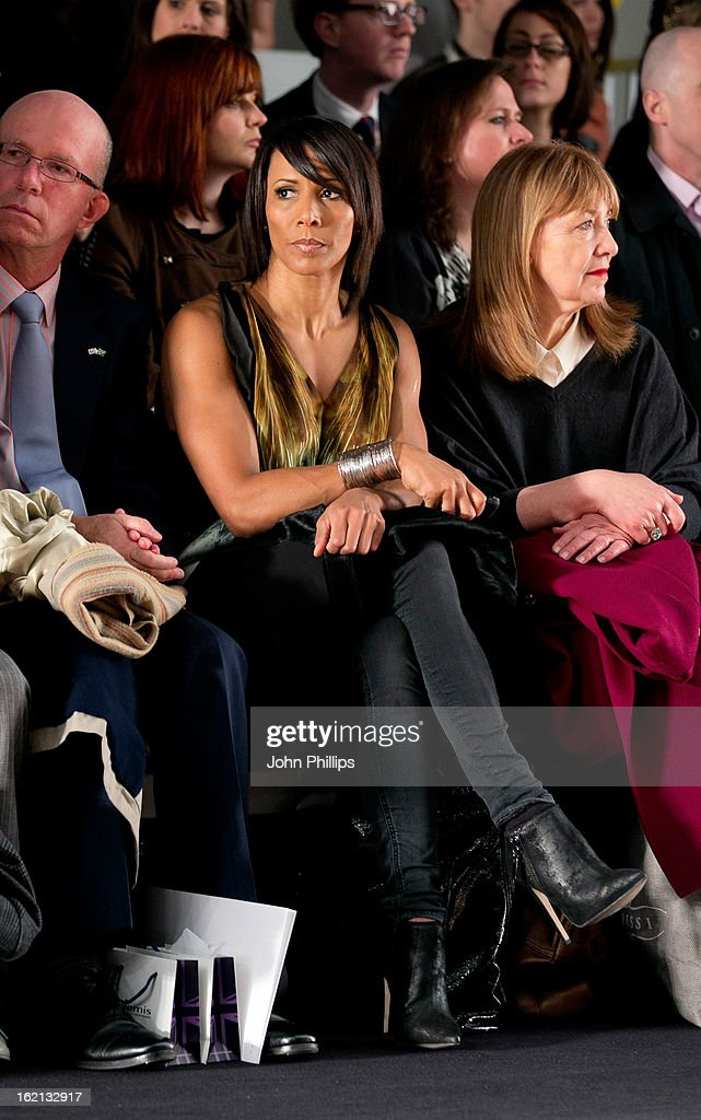 Dame Kelly Holmes attends the Maria Grachvogel show during London Fashion Week Fall/Winter 2013/14 at Somerset House on February 19, 2013 in London, England.