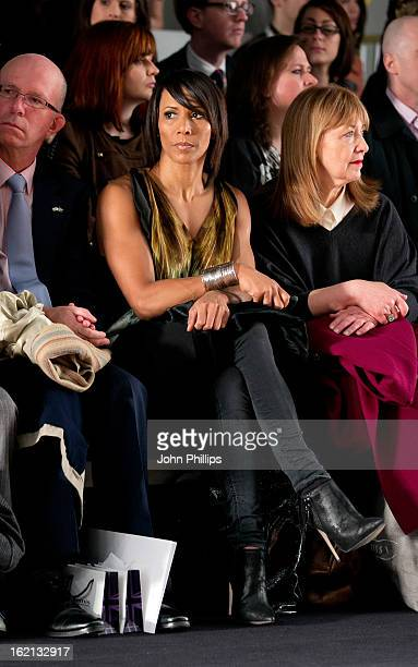 Dame Kelly Holmes attends the Maria Grachvogel show during London Fashion Week Fall/Winter 2013/14 at Somerset House on February 19 2013 in London...
