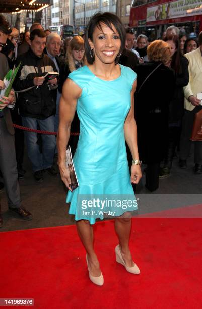 Dame Kelly Holmes attends the press night of The King's Speech at Wyndhams Theatre on March 27, 2012 in London, England.
