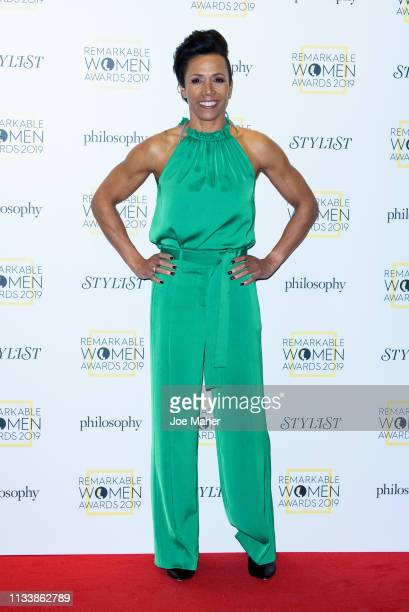 Dame Kelly Holmes attends the Remarkable Women Awards at Rosewood London on March 05, 2019 in London, England.