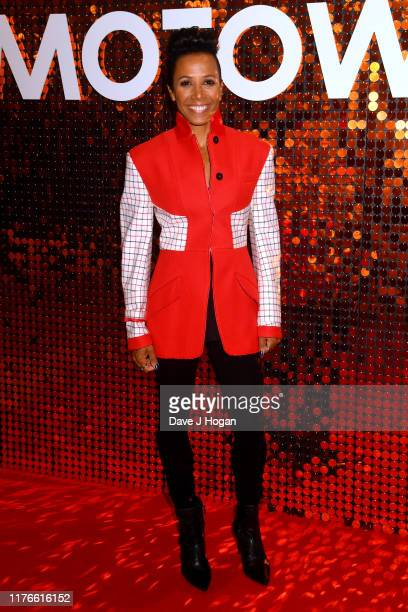 """Dame Kelly Holmes attends the """"The Making Of Motown"""" European Premiere at Odeon Luxe Leicester Square on September 23, 2019 in London, England."""