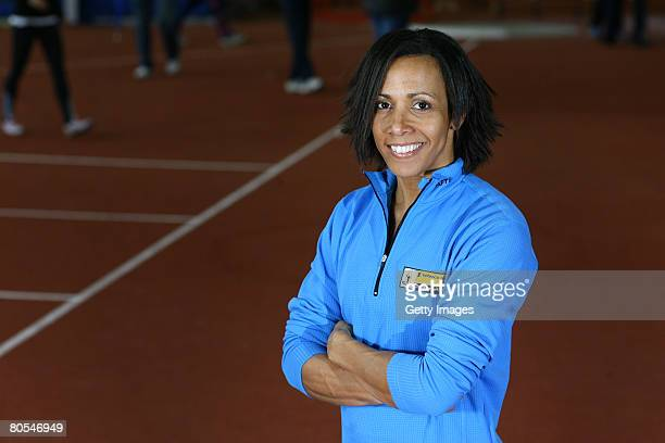 Dame Kelly Holmes during the 'On Camp with Kelly' event at Loughborough University on April 5 2008 in Loughborough England