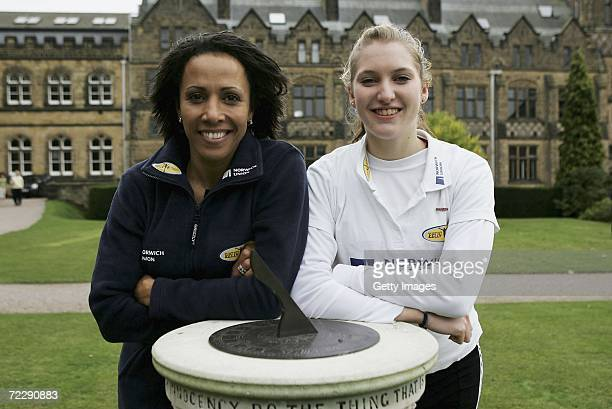 Dame Kelly Holmes poses with Hannah Brooks during the 'On Camp with Kelly' weekend sponsored by Norwich Union held at Tonbridge School on October 28...