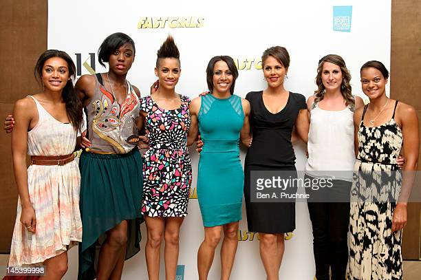 Dame Kelly Holmes with guests Adele Tracey Lashana Lynch Dominique Tipper Lenora Crichlow Charlotte Best and Tara Bird at her private screening of...