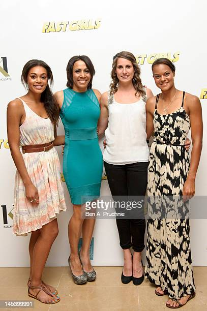 Dame Kelly Holmes with guests Adelle Tracey Charlotte Best and Tara Bird at her private screening of Fast Girls with the Women's Sports and Fitness...