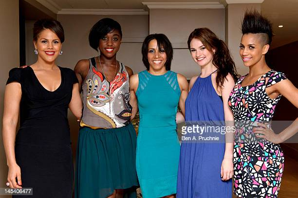 Dame Kelly Holmes with guests Lenora Crichlow, Lashana Lynch, Lily James and Dominique Tipper at her private screening of Fast Girls with the Women's...