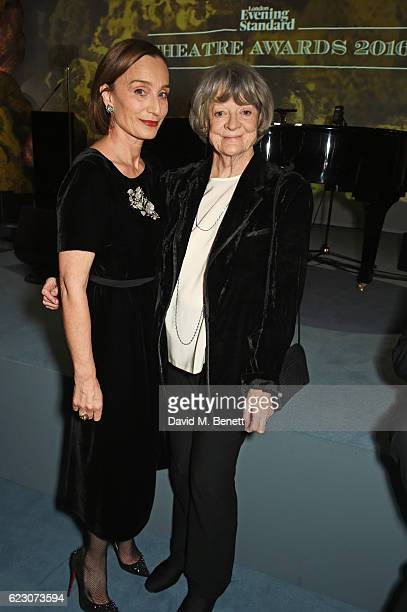 Dame Kristin Scott Thomas and Dame Maggie Smith attend the 62nd London Evening Standard Theatre Awards recognising excellence from across the world...