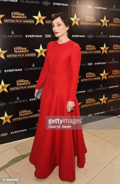 Dame Kristin Scott Thomas arrives at the London Evening Standard British Film Awards 2018 at Claridge's Hotel on February 8 2018 in London England