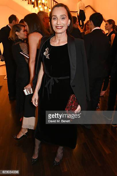 Dame Kristin Scott Thomas attends a cocktail reception at The 62nd London Evening Standard Theatre Awards recognising excellence from across the...