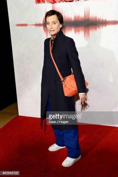 Dame Kristin Scott Thomas attends a screening of 'A Quiet Place' at Curzon Soho on April 5 2018 in London England