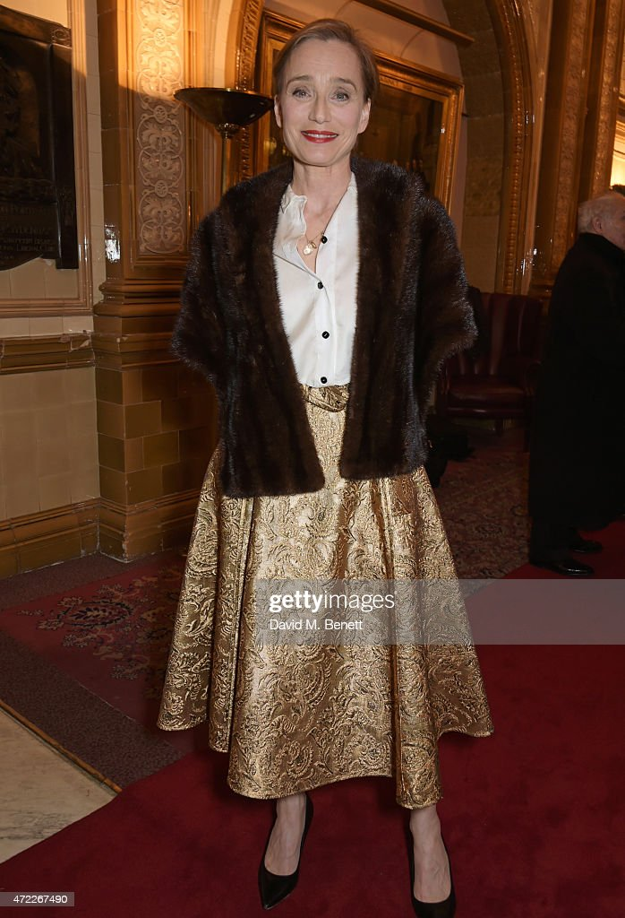Dame Kristin Scott Thomas attends an after party following the press night performance of 'The Audience' at The Royal Horseguards Hotel on May 5, 2015 in London, England.