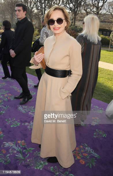Dame Kristin Scott Thomas attends the Dior Haute Couture Spring/Summer 2020 show as part of Paris Fashion Week at Musee Rodin on January 20 2020 in...