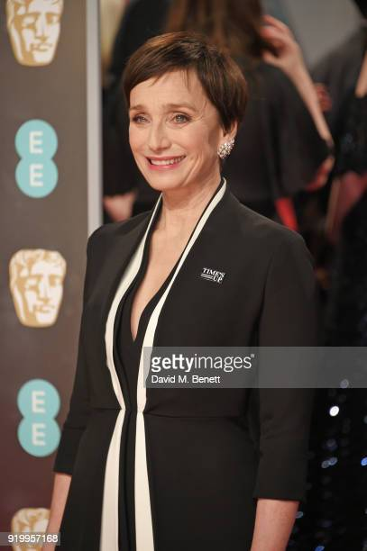 Dame Kristin Scott Thomas attends the EE British Academy Film Awards held at Royal Albert Hall on February 18 2018 in London England