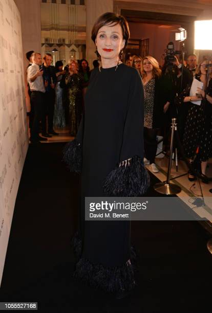Dame Kristin Scott Thomas attends the Harper's Bazaar Women Of The Year Awards 2018 in partnership with Michael Kors and MercedesBenz at Claridge's...