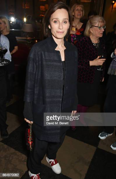 Dame Kristin Scott Thomas attends the press night after party for Edward Albee's 'The Goat Or Who Is Sylvia' at Villandry on April 5 2017 in London...
