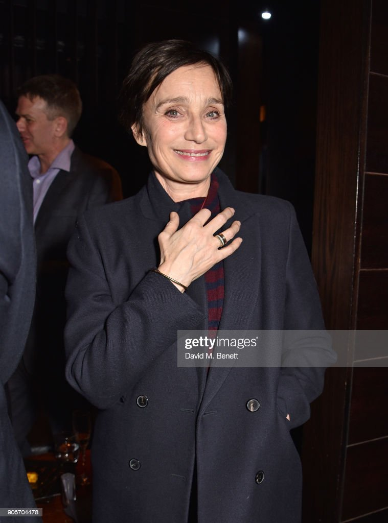 Dame Kristin Scott Thomas attends the press night after party for 'The Birthday Party' at Mint Leaf on January 18, 2018 in London, England.