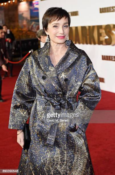 Dame Kristin Scott Thomas attends the UK Premiere of 'Darkest Hour' at Odeon Leicester Square on December 11 2017 in London England