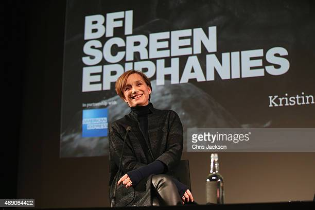Dame Kristin Scott Thomas chats to Stephen Daldry during a discussion as part of the BFI Screen Epiphanies series in partnership with American...