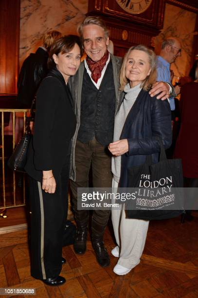 Dame Kristin Scott Thomas Jeremy Irons and Sinead Cusack attend an after party for Happy Birthday Harold a charity gala celebrating the life and work...