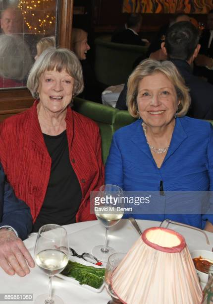 Dame Maggie Smith and Anne Reid attend 'One Night Only At The Ivy' in aid of Acting for Others on December 10 2017 in London England