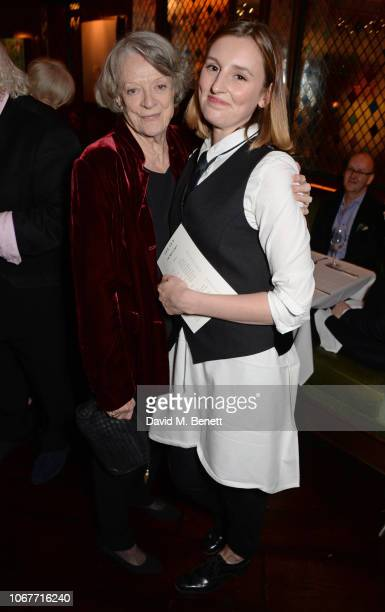Dame Maggie Smith and Laura Carmichael attend the annual 'One Night Only At The Ivy' in aid of Acting For Others on December 2 2018 in London England