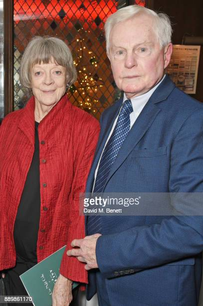 Dame Maggie Smith and Sir Derek Jacobi attend 'One Night Only At The Ivy' in aid of Acting for Others on December 10 2017 in London England