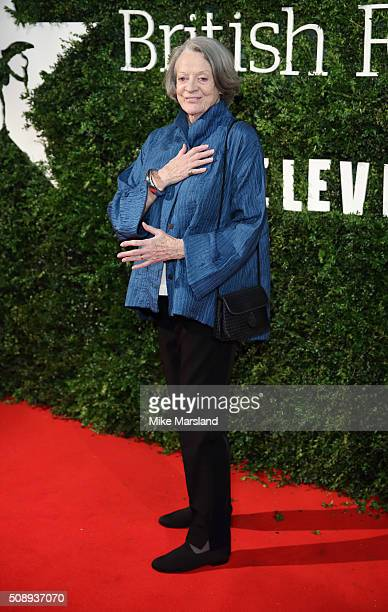 Dame Maggie Smith attends the London Evening Standard British Film Awards at Television Centre on February 7 2016 in London England