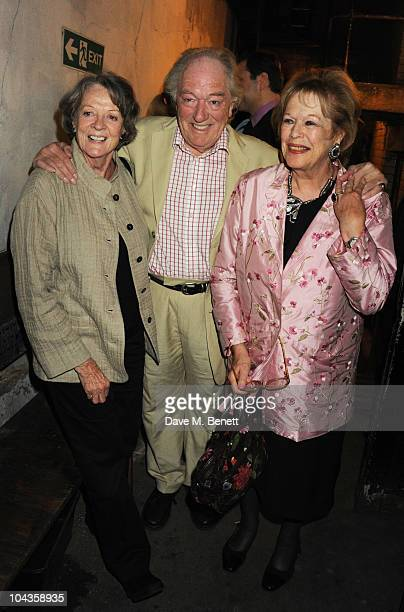 Dame Maggie Smith Michael Gambon and Lady Antonia Fraser attend the press night of 'Krapp's Last Tape' at the Duchess Theatre on September 22 2010 in...