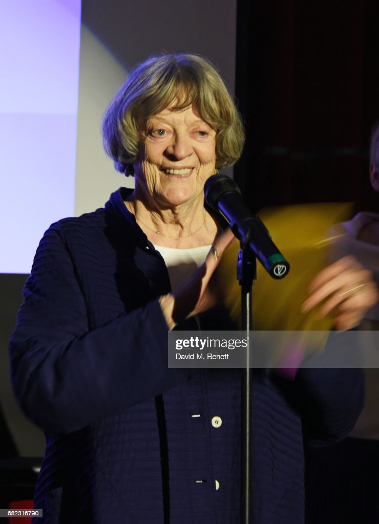 Dame Maggie Smith presents an award at the Acting For Others Presidential Awards at The Crazy Coqs on May 12, 2017 in London, England.