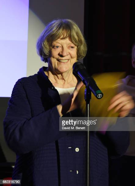 Dame Maggie Smith presents an award at the Acting For Others Presidential Awards at The Crazy Coqs on May 12 2017 in London England
